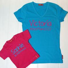 Personalised Mum And Child Hashtag T Shirt