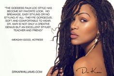 Meagan Good Braids Pictures watch how to get meagan goods goddess faux locs Meagan Good Braids. Here is Meagan Good Braids Pictures for you. Meagan Good Braids watch how to get meagan goods goddess faux locs. Megan Good Haircut, Sleek Hairstyles, Braided Hairstyles, Protective Hairstyles, Curly Hair Styles, Natural Hair Styles, Meagan Good, Black Hair Care, Goddess Braids