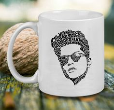 Bruno Mars Sketch Art Mug, Tea Mug, Coffee Mug