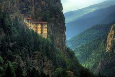Sumela Trabzon x Trabzon Turkey, Old Photos, River, Mountains, Architecture, City, Beach, Places, Nature