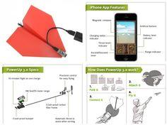 Ya podemos hacer volar un avión de papel controlado por un smartphone.