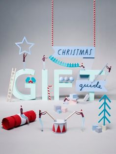 The Telegraph Gift Guide is beautifully paper crafted and illustrated by Amy Harris. Christmas Campaign, Christmas Ad, Christmas Gift Guide, Christmas Design, Google Christmas, Holiday Store, 3d Typography, Christmas Graphics, Still Photography