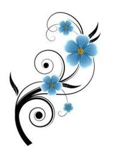 Forget-me-not Tattoo Design