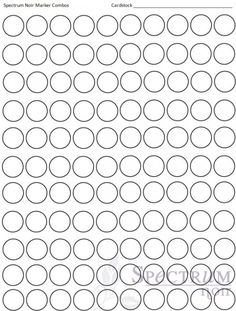Spectrum Noir Blank Color Chart Printable