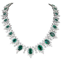 Important Emerald and Diamond Necklace 1