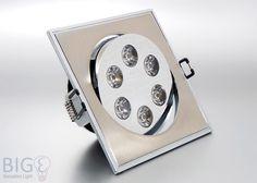 Horoz #Power #LED #Einbauleuchte 6 Watt eckig schwenkbar BiColor