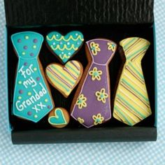 Small Tie Cookie Gift Box