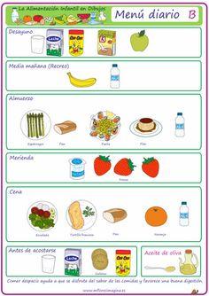 Menú diario en dibujos (B)