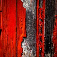 Old Red Barn One - Original fine art abstract peeling paint photography by Bob Orsillo   Copyright (c)Bob Orsillo / http://orsillo.com All Rights Reserved