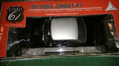 HWY 61 1967 Dodge Coronet R/T 1:18 scale diecast in black  NIB #Highway61DCP #Dodge #diecast #car #coronot #rare #collectoritem #gift #giftforhim #birthdaygift