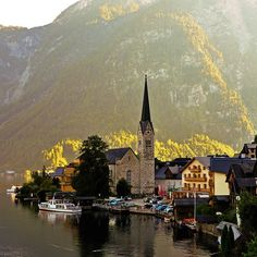 Morning by the lake, Hallstatt, Austria (by Polgár Ádám). #travel