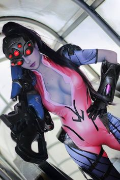 widowmaker from overwatch cosplay Anime Cosplay, Best Cosplay, Cosplay Girls, Awesome Cosplay, Female Cosplay, Kawaii Cosplay, Overwatch, Widowmaker, Comic Manga