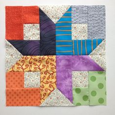 Boxy Stars, block 1 for @quilting_grammy #alwaysbeelearning | by HoosierToni
