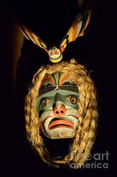 Haida Carved Wooden Mask