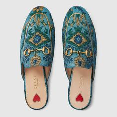 Princetown brocade slipper - Gucci Women's Moccasins & Loafers 472640K9O204967