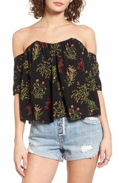 BP. Floral Off the Shoulder Top