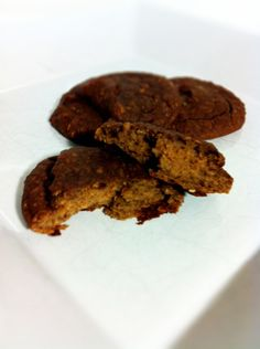 HEALTHY DESSERT:  Chocolate Fudge Cookies (gluten-free, flourless, and high protein)