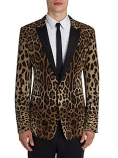 Dolce & Gabbana Leopard Printed Satin Evening Jacket, Leopard In Brown Animal Print Wedding, Leopard Blazer, Madrid, Before Midnight, Tuxedo Jacket, Tuxedo For Men, Dolce And Gabbana Man, Blazers For Men, Sport Coat