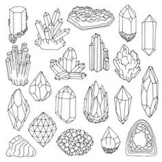 Food Plate Clipart Transparent PNG - Useful search for cliparts Crystal Illustration, Crystal Drawing, Crystal Tattoo, Bullet Journal Inspiration, Book Of Shadows, Clipart, Doodle Art, Wicca, Line Art