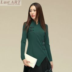 New arrival traditional chinese clothing sexy long sleeve new design chinese garment ladies slim oriental costumes AA038