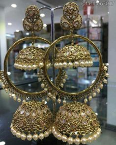 Jewelry Images For Girl Indian Jewelry Earrings, Jewelry Design Earrings, Indian Wedding Jewelry, Wedding Jewelry Sets, Bridal Jewelry, Jhumki Earrings, Hoop Earrings, Jewelry For Her, Stylish Jewelry