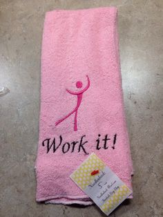 A personal favorite from my Etsy shop https://www.etsy.com/listing/218454361/workout-towel