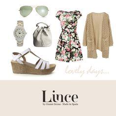Look estampado floral con cuña LINCE #lovelifelince #licenshoes #lince #coleccion #calzado #zapatos #bluchers #madeinspain #hechoenespaña #moda #tendencias #ss2015