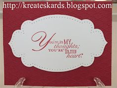 KreatesKards: Stampin' Up! Word Play Stamp Set Samples