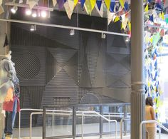 Acoustic foam display from Urban Outfitters at the Broadway location in New York