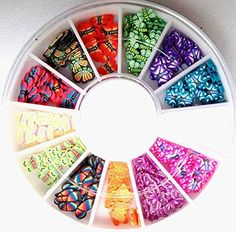 120PcsDainty Popular 3D Random Mixed Fimo Nail Art Wheel Polymer Clay Slices Colorful Decoration Salon Supplies Type Butterfly -- Check this awesome product by going to the link at the image.