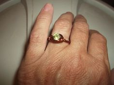 Brand New Green Peridot Gemstone Solitare Engagement by missy69