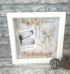 Personalised Daddy Frame Scrabble Art Frame Frame by Mybuttonheart