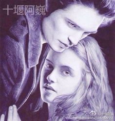 'Twilight.' Drawn by a young Chinese painter with a ballpoint pen. http://www.visiontimes.com/2015/04/25/when-celebrities-meet-ballpoint-pen-art.html