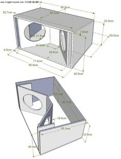 Resultado de imagen para subwoofer box design for 12 inch Speaker Box Diy, Custom Speaker Boxes, Speaker Plans, Speaker Box Design, Diy Speakers, 15 Subwoofer Box, Subwoofer Box Design, Custom Subwoofer Box, Sub Box Design
