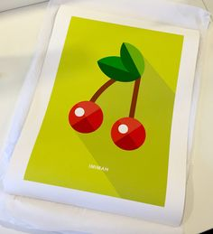 """IMIMAH Cherry Delight print in 18x24"""" - $48 - from imimah.co. #prints #icons #homespo Cherry Delight, Plastic Cutting Board, Icons, Interior Design, Prints, Inspiration, Home Decor, Art, Nest Design"""