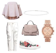"""""""#10"""" by chavelles on Polyvore featuring Milly, H&M, Gucci, Suzanne Kalan and FOSSIL"""