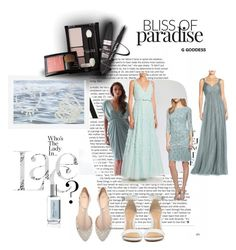 """Untitled #28"" by txaj23 on Polyvore featuring Monique Lhuillier, Alex Evenings, BASIX BLACK LABEL, Zara, Pottery Barn, Atelier Cologne, Maybelline, Schutz and plus size dresses"