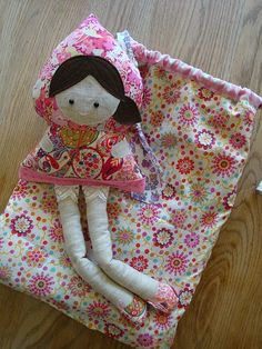 Liberty the doll and her bag by ImAGingerMonkey, via Flickr