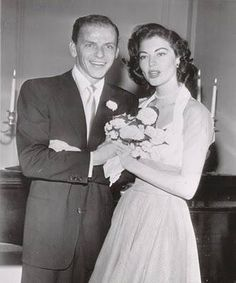 1951 Ava & Frank wedding--the golden age of hollywood's