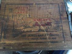 Vintage Breweriana Hanleys Bulldog Ale And Lager Beer Store Sign Box Rare!