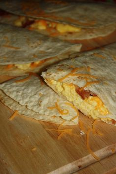 Quick and Easy Breakfast quesadilla recipe