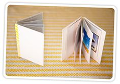 DIY pocket portfolio of pictures. And you can add a business card for the cover, and additional information inside.