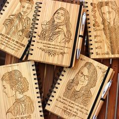 Create your own notebook! Customize a bamboo notebook the way you want with an image and text. Our notebooks come with a free pen! www.woodgeekstore.com . . . #woodgeek #woodgeekstore #customizednotebook #personalizednotebook #notebookcustom #notebookcover #photoonwood #customizeyourown #woodennotebook #bamboonotebook #personalizedgifts #giftshop #woodshop #woodwork #woodworking