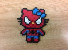 Spiderman Hello Kitty perler beads by Amanda Collison by JohnsonKathy