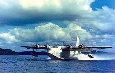 Short Sunderland III -  A Sunderland of the 422 Squadron RCAF (Royal Canadian Air Force) taking off from Lough Erne, Northern Ireland - February 1944