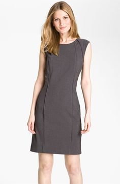 Tahari by Arthur S. Levine Cap Sleeve Woven Sheath Dress available at #Nordstrom