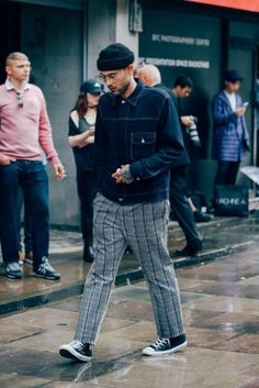Check Trousers. Shop this look at The Idle Man #StyleMadeEasy