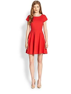 Diane von Furstenberg Delyse Flared-Skirt Stretch Jersey Dress