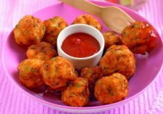 Annabel Karmel's chicken & apple balls - divine! Kids love them; make them into large-size patties for adults. The fresh thyme enhances the flavor and the apple keeps them moist.