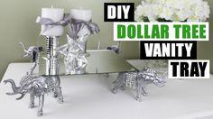 DIY DOLLAR TREE VANITY TRAY Z Gallerie Inspired DIY Tutorial Dollar Store DIY Glam Mirror Room Decor